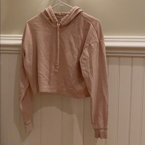 light pink cropped hoodie